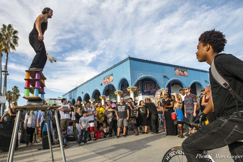 Venice Beach Boardwalk: Watching stock images