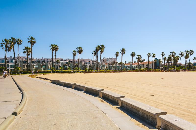 Venice Beach area in Los Angeles stock image