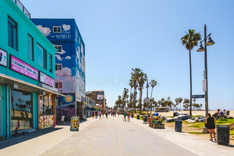 Venice Beach, coastal district with exclusive shopping royalty free stock photos