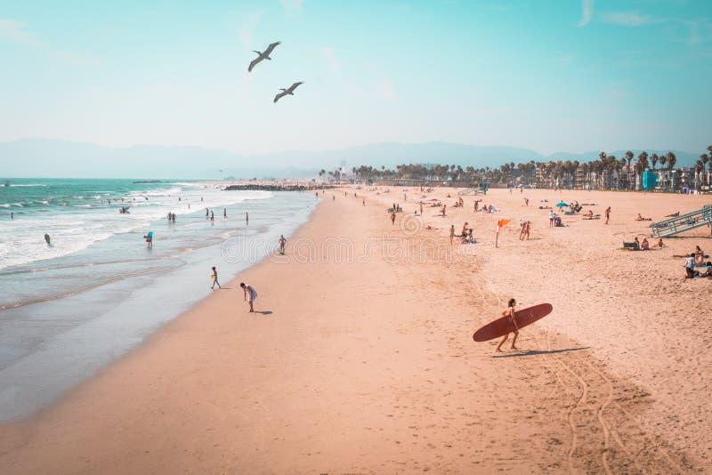 Venice Beach cerca de 1980? imagens de stock