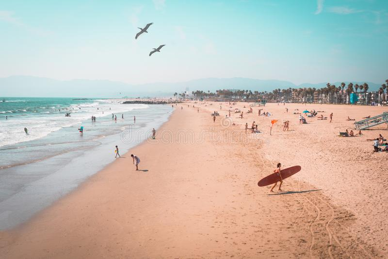 Venice Beach Circa 1980? arkivbilder