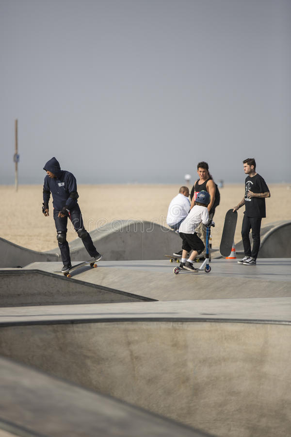 Venice Beach skatepark. royalty free stock photography