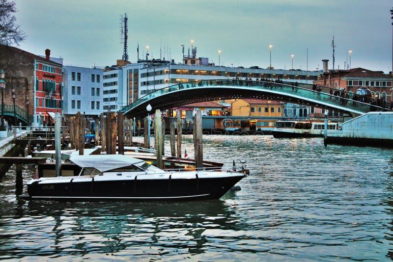 Venice, calatrava bridge that joins piazzale roma and railway. Venice, calatrava bridge that joins piazzale roma and railway stock image