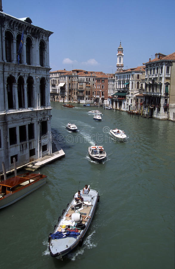 Venice. Canal grande, view from Rialto bridge stock images
