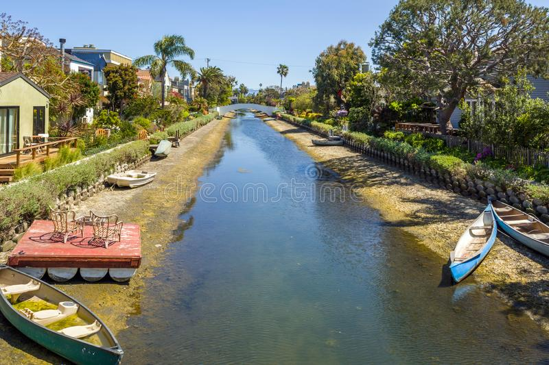 Venice Canal Historic Distric in Los Angeles. United States. Venice Canal Historic District. Venice Canals in Southern California in Los Angeles. United States royalty free stock photography