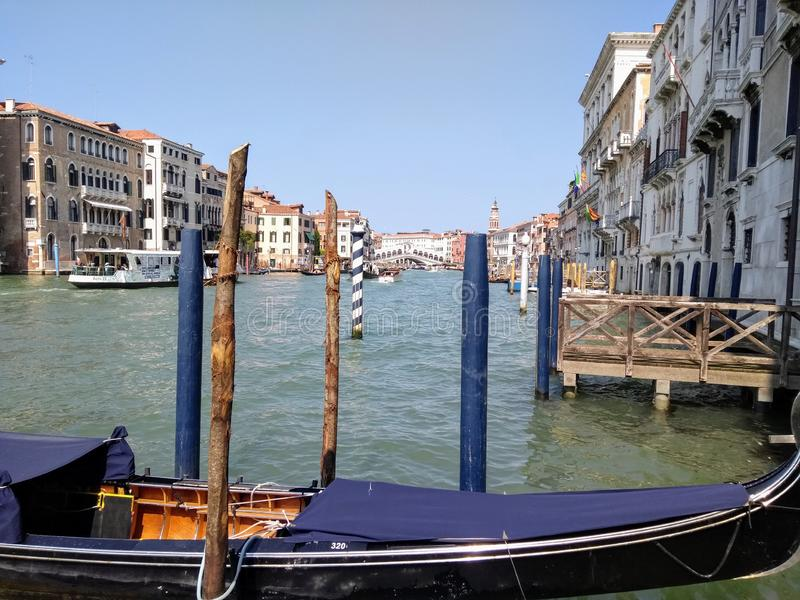 Venice canal in Summer royalty free stock photo