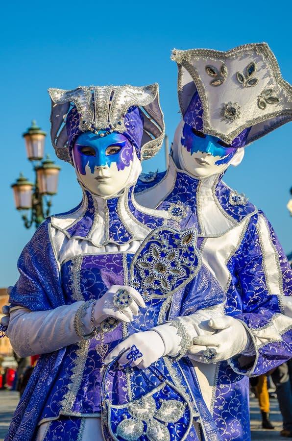Venice Carnival Couples stock photos