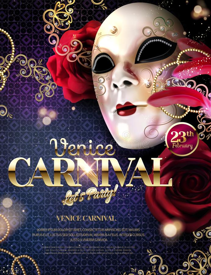 Venice Carnival design stock illustration