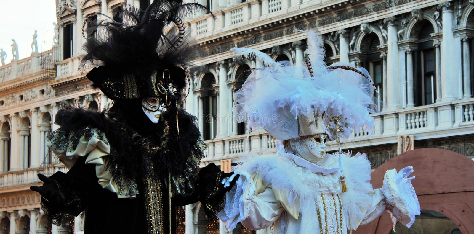 Venice carnival, portrait of a mask, during the Venetian carnival in the whole city there are wonderful masks. stock photography