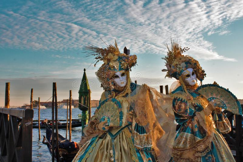 Venice carnival, portrait of a mask, during the Venetian carnival in the whole city there are wonderful masks. royalty free stock images
