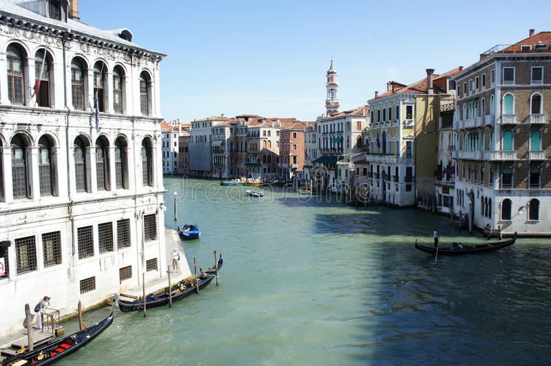 Venice channels in the morning royalty free stock image