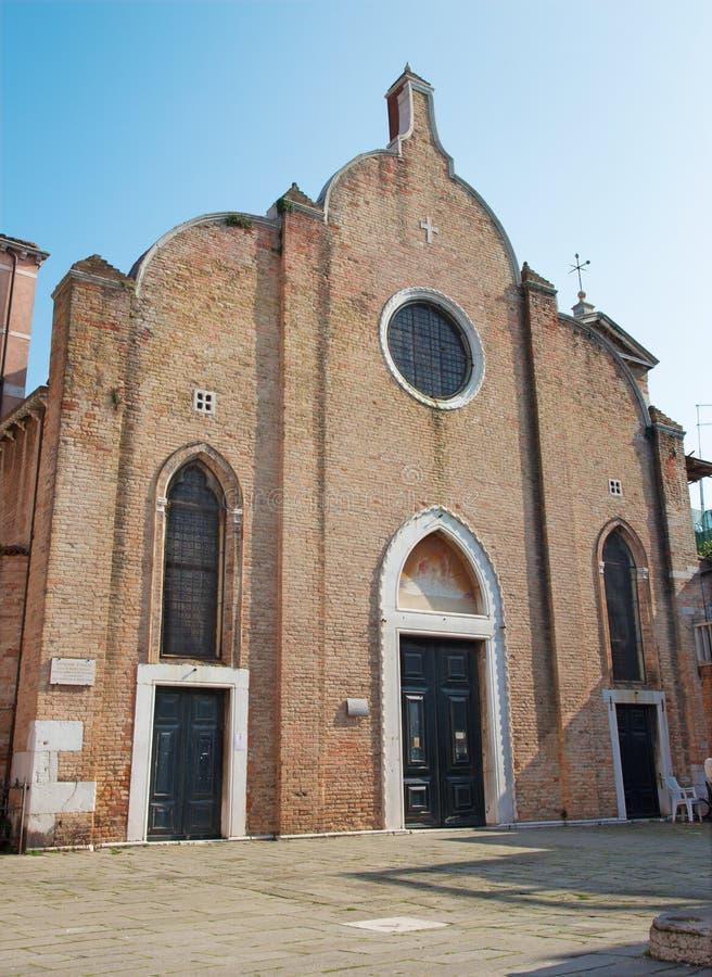 Venice - Chiesa di San Giovanni Battista in Bragora stock photography