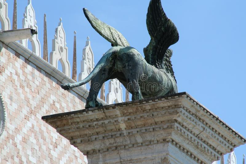 Venice, column of San Marco stock images
