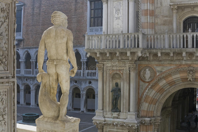 Download Venice Doge's palace stock image. Image of atlant, marble - 9711589