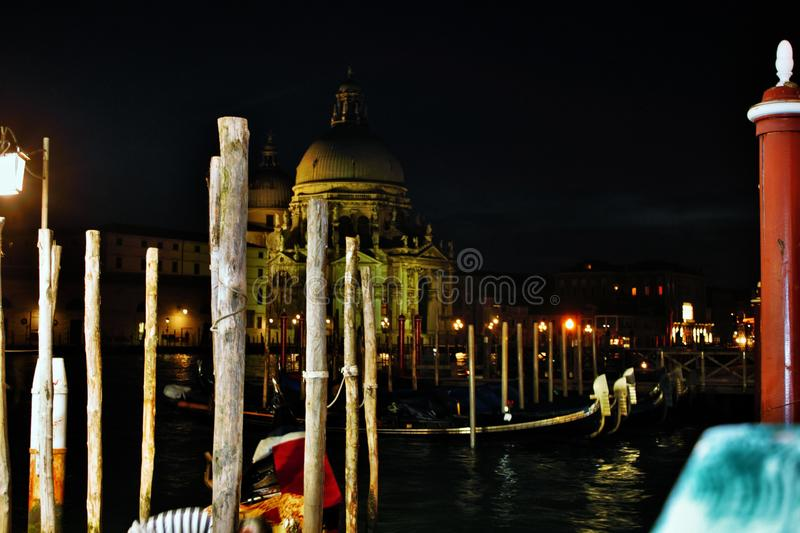 Venice in the evening, the romantic city is enriched with lights that make another image, a walk is a must. Venice in the evening, the romantic city is enriched stock photos