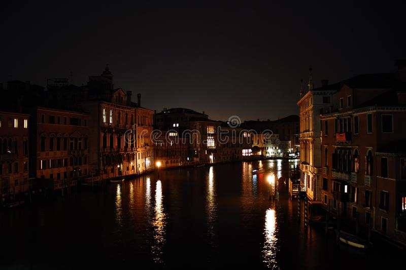 Venice in the evening, the romantic city is enriched with lights that make another image, a walk is a must. Venice in the evening, the romantic city is enriched royalty free stock image