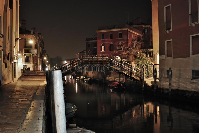 Venice in the evening, the romantic city is enriched with lights that make another image, a walk is a must. Venice in the evening, the romantic city is enriched royalty free stock photo