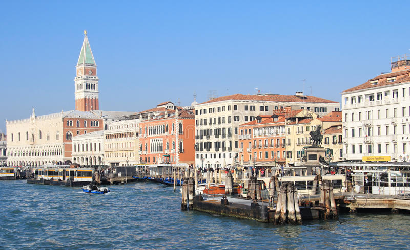 Download Venice ferry dock editorial image. Image of architecture - 23517060