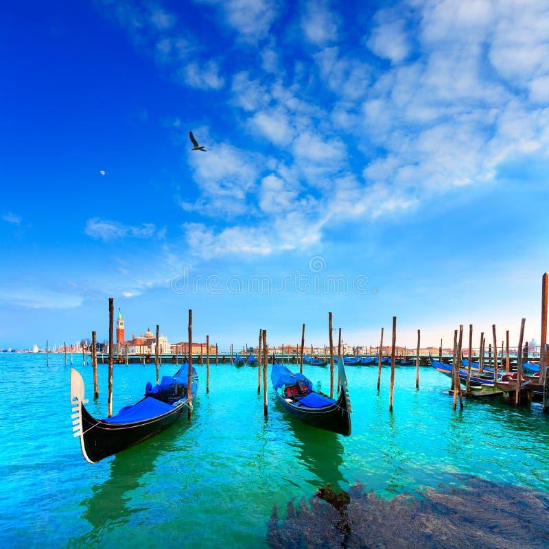 Free Venice. Gondolas. Canale Della Giudecca. San Giorgio Maggiore. Royalty Free Stock Photos - 33598908
