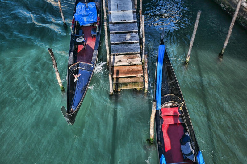Venice with gondolas in Italy stock image