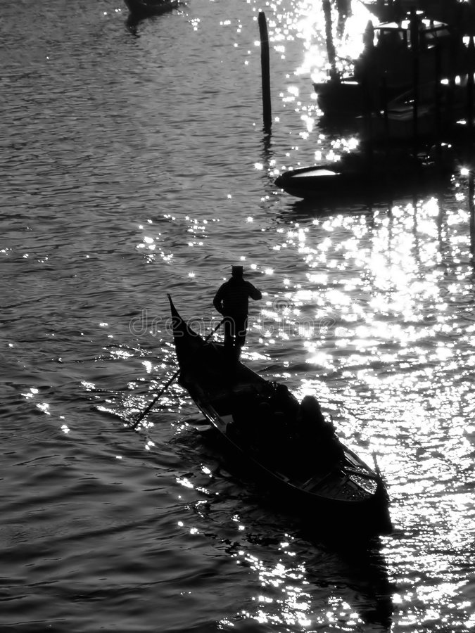Venice: gondolier royalty free stock photos