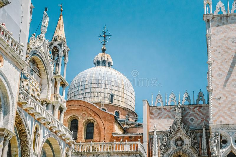 Dodge Palace in the San Marco area in Venice, Italy royalty free stock photos