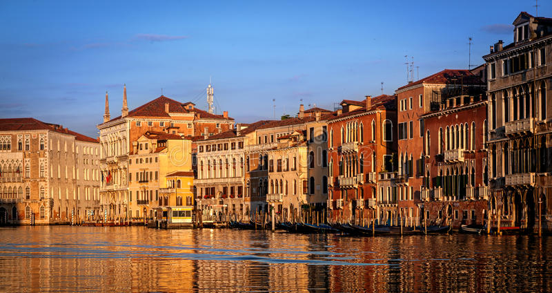 Venice houses. House and apartments by Grand Canal in Venice Italy stock image