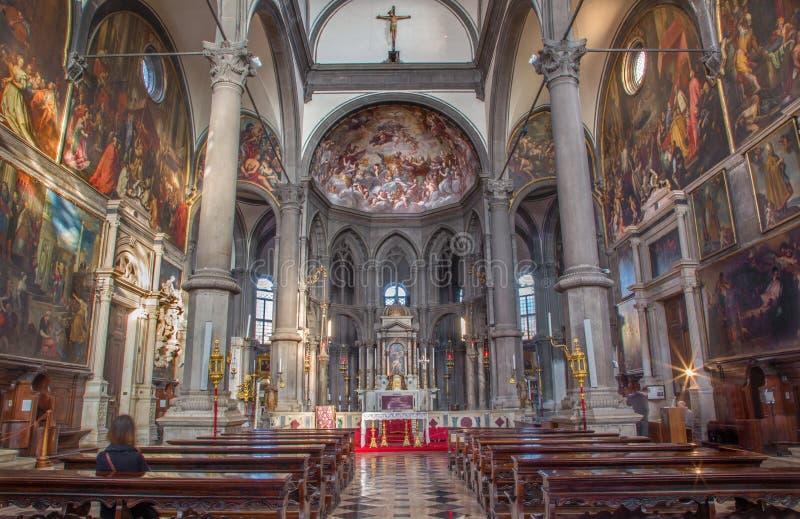 Venice - Interior of Chiesa di San Zaccaria church. stock image