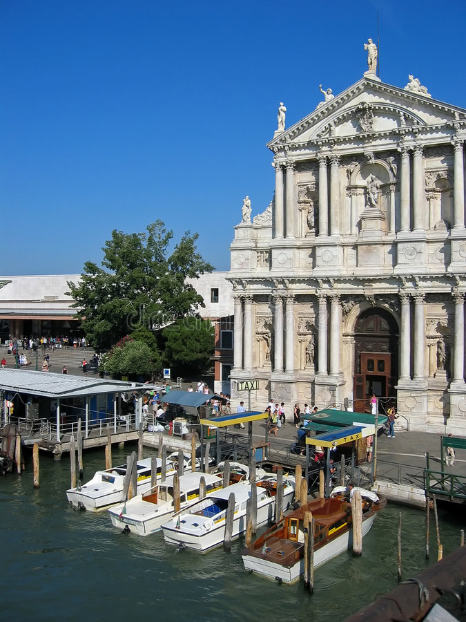Download Venice Italy stock image. Image of church, pier, boats - 463359