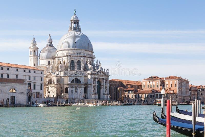 Venice, Italy, Basilica di Santa Maria della Salute in morning light royalty free stock photos