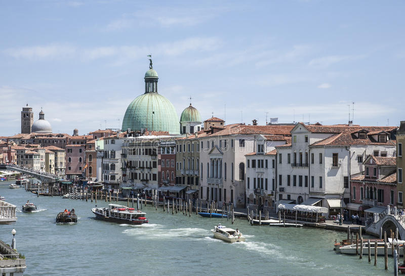 Venice, Italy - boats and buildings. stock image