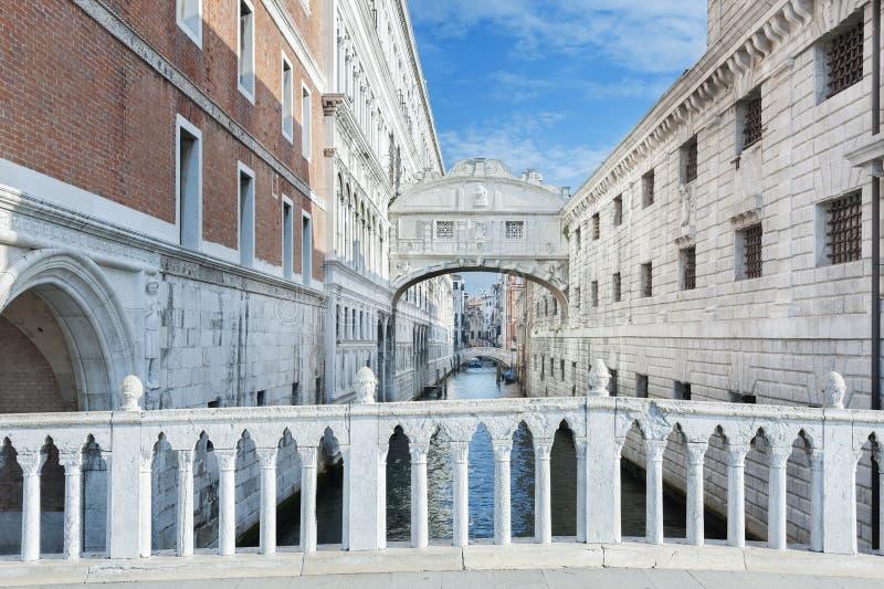 Venice, Italy. Venice - Bridge of Sighs (Ponte dei Sospiri) , Italy stock photography