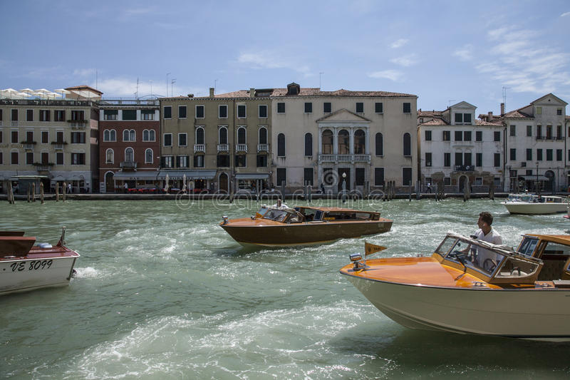Venice, Italy - canal and the boats. royalty free stock photos
