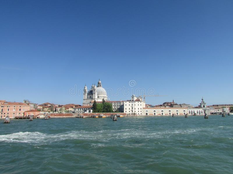 Venice, Italy, city of the Gulf of Venice, view from the sea. royalty free stock photos