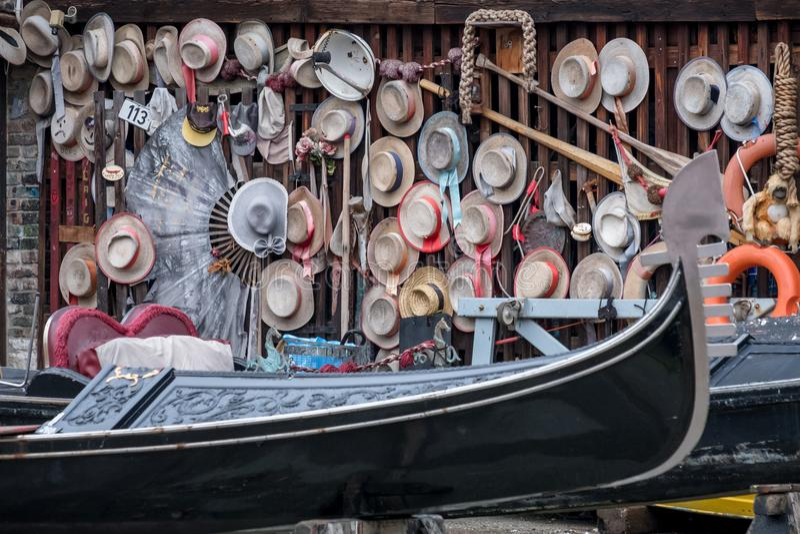 Squero di San Trovaso in Venice Italy. Historic gondola boatyard in Venice. royalty free stock images
