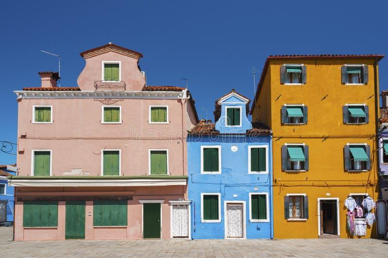 Venice, Italy. Colorful house in Burano island, Venice, Italy royalty free stock image