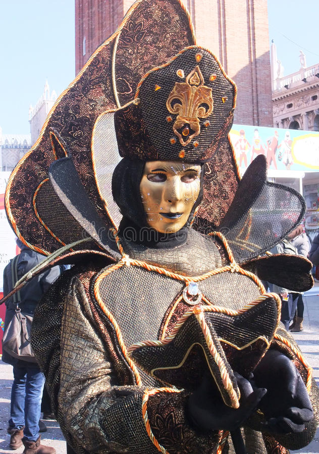 Mysterious phantom at Venice Carnival royalty free stock images