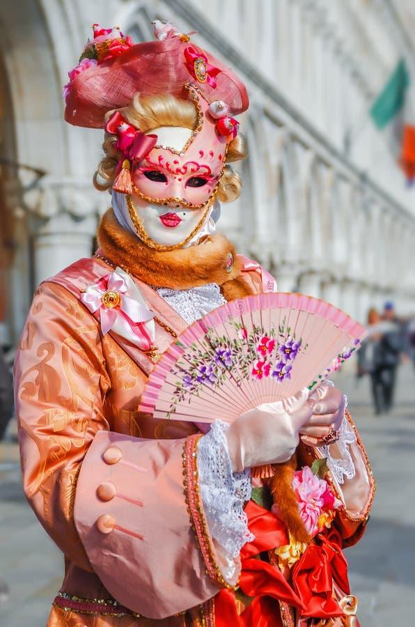 VENICE, ITALY - FEBRUARY 27, 2014: Carnival of Venice. stock image