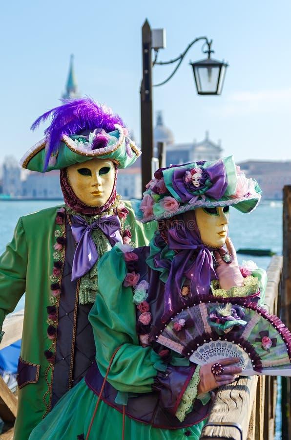VENICE, ITALY - FEBRUARY 27, 2014: Carnival of Venice. royalty free stock photo