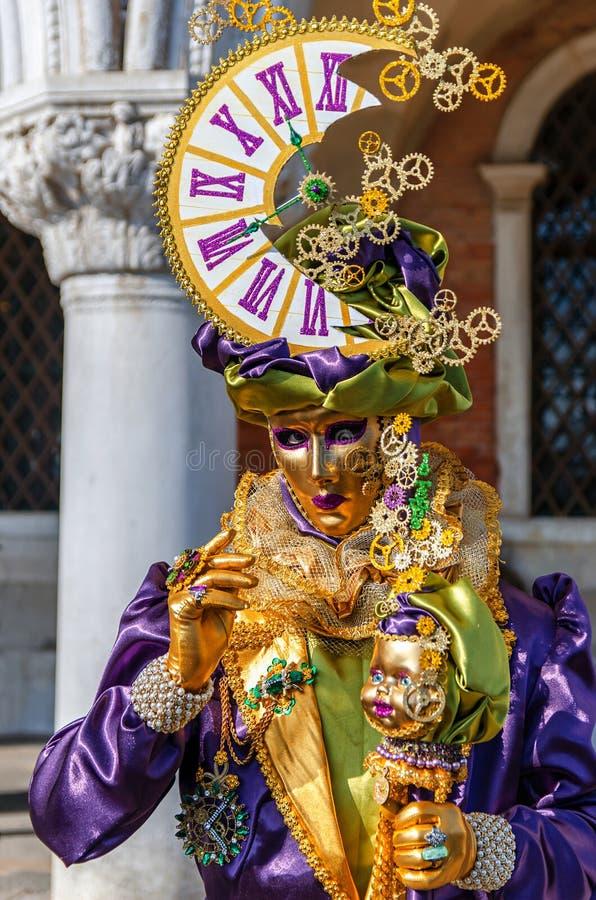 VENICE, ITALY - FEBRUARY 27, 2014: Carnival of Venice. stock photos