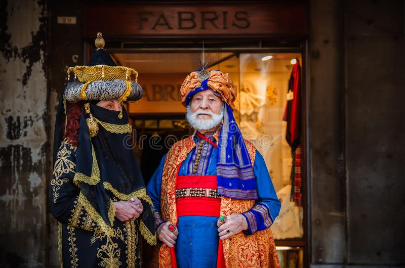 VENICE, ITALY - FEBRUARY 27, 2014: Carnival of Venice. royalty free stock images