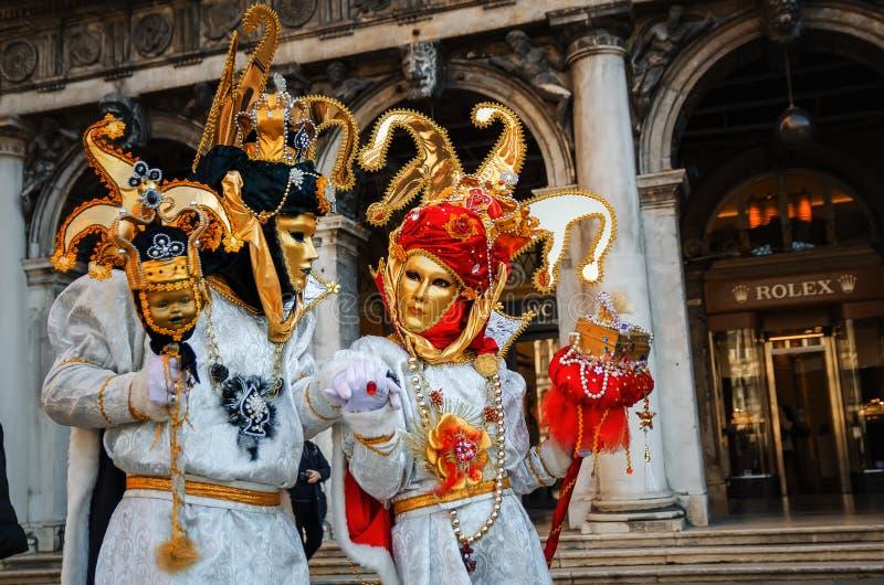 VENICE, ITALY - FEBRUARY 27, 2014: Carnival of Venice. royalty free stock photography