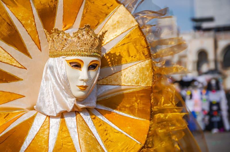 VENICE, ITALY - FEBRUARY 27, 2014: Carnival of Venice. stock photography