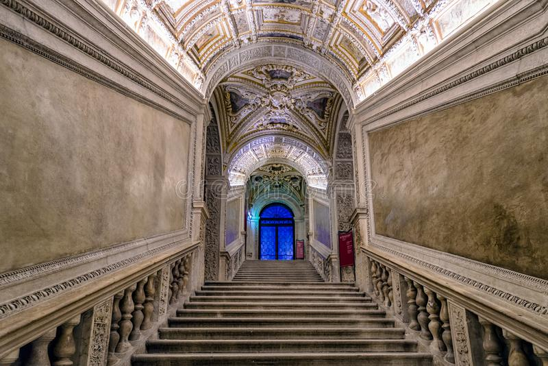 Interior of Doge`s palace in Venice, italy stock photo