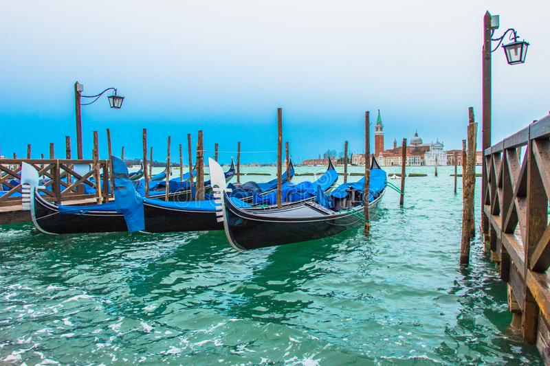 A visit of Venice when the tourists are not there stock photos