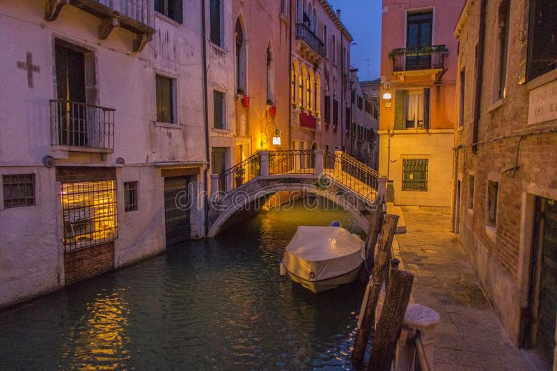 A visit of Venice when the tourists are not there royalty free stock photo