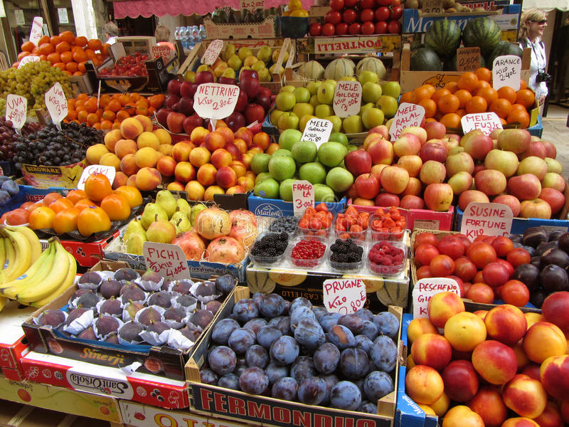 Venice Italy Fruit Stand stock photo