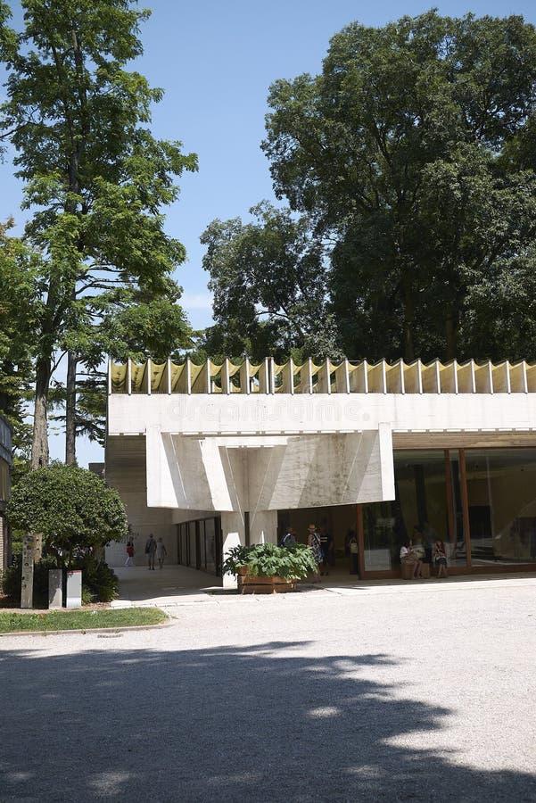 View of Scandinavian Pavillon. Venice, Italy - July 02, 2019 :  View of Venice Biennale Scandinavian Pavillon stock photos