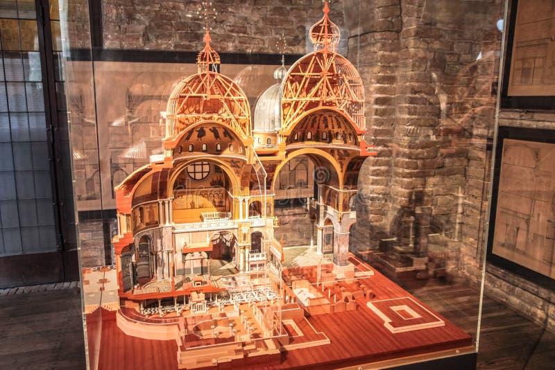 Exhibits of the museum in Venice. Venetian Museum stock photography