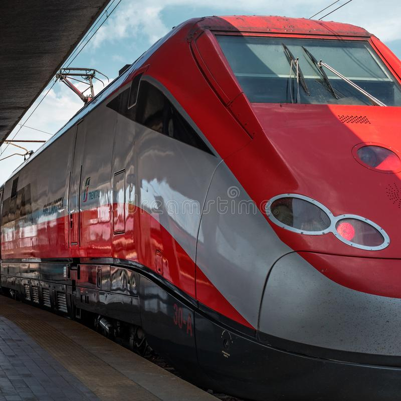European High-speed Train On Railway Station Stock Photo ...